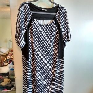 Fit & Flare Short-Sleeve Dress